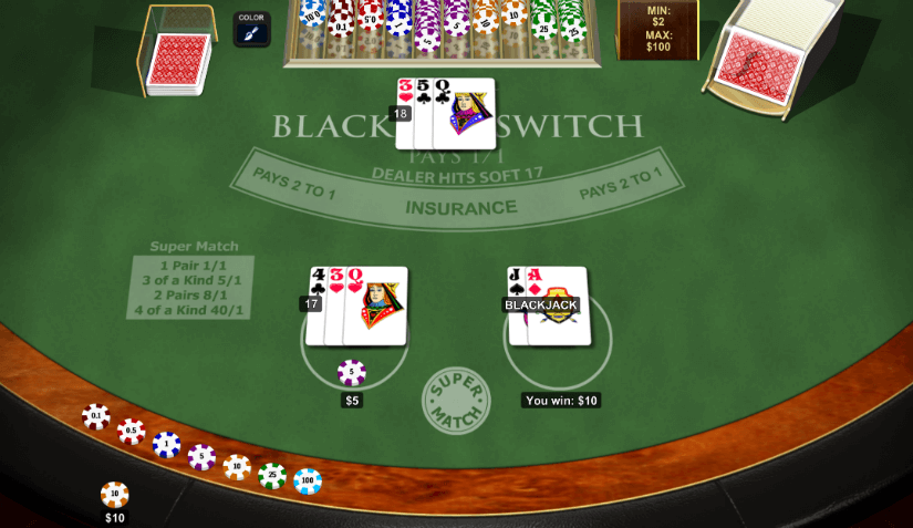 Blackjack Switch Online